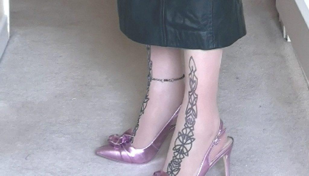 Purple Slingbacks with Toe Decoration